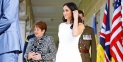 Meghan Markle Wore A Glingy White Dress After Announcing Her First Pregnancy