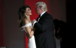 Melania Trump Wore A Dreamy White Gown For Her Inaugural Ball