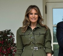 First Lady Melania Trump's Military-Inspired Jacket Is Everything