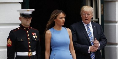 Melania Trump Is Gorgeous In This Stunning Michael Kors' Dress
