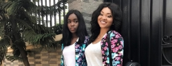 Mercy Aigbe And Daughter Had A Mother-Daughter Moments In Matching Outfits