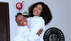 Mercy Aigbe Opts For Matchy-Matchy Outfit For Her Son's Birthday