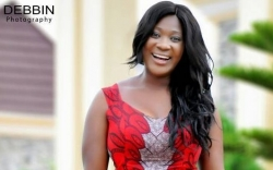 Mercy Johnson's Dress Has One Detail You Shouldn't Miss