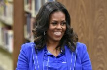Michelle Obama Looks Too Good In A Blue Suit