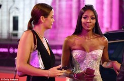 Naomi Campbell Looks Amazing In This Silver Gown
