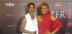 Omotola Jalade Goes For A Flattering Red Dress For Her Movie Premiere