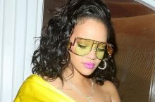 Rihanna Wore A Bright Yellow Outfit For Fenty Beauty Launch In London