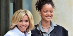 Rihanna Wore An Oversized Blazer To Meet The French President & First Lady