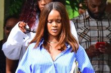 Rihanna Takes An Oversized Shirt To The Next Level
