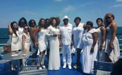 How Senator Amori and His Girls do All-white Outfits in a Pre-birthday Boat Cruise