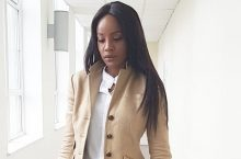 Singer Seyi Shay Will Make You Want To Wear Tan Pantsuit