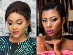 Mercy Aigbe & Selorm Galley-Fiawoo Tests Out Juliet Ibrahim's Lashes