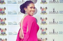 Stephanie Okereke Walked The AMAA Awards Red Carpet In A Stunning Red Gown