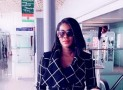 Stephanie Okereke Cut A Stylish Entrance At The Airport