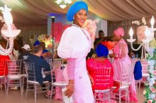 Stephanie Okereke Wore a Pretty Pink Dress to Attend Her Sister's Wedding