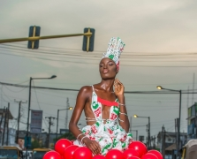 This Gorgeous Dress Is Made Out Of Balloons And Nylon