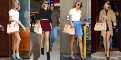 Taylor Swift's Nude Bag Obsession is as Hot as Her Legs