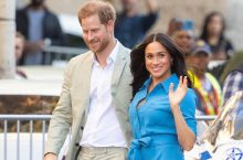 Meghan Markle Takes South Africa In Wrap and Tie Waist Dress