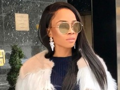 Toke Makinwa Steps Out In Fur Jacket Like A Boss