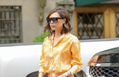 Victoria Beckham Shows The Best Way To Wear Tangerine Hue