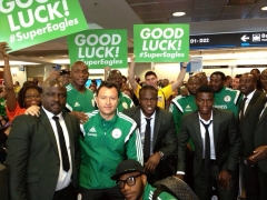 President Goodluck Jonathan Wishes Super Eagles GOOD LUCK!