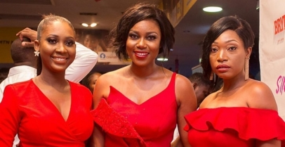 Yvonne Nelson Wore A Sexy Red Dress To Premiere Her New Movie 'Sin City'